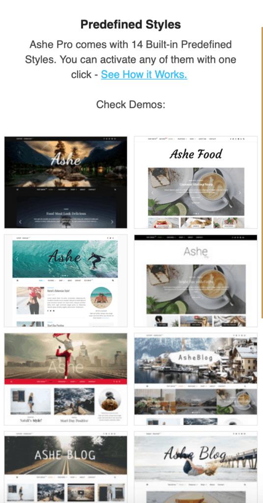 Ashe Pro theme WP Royal . Cheap premium WordPress theme for bloggers