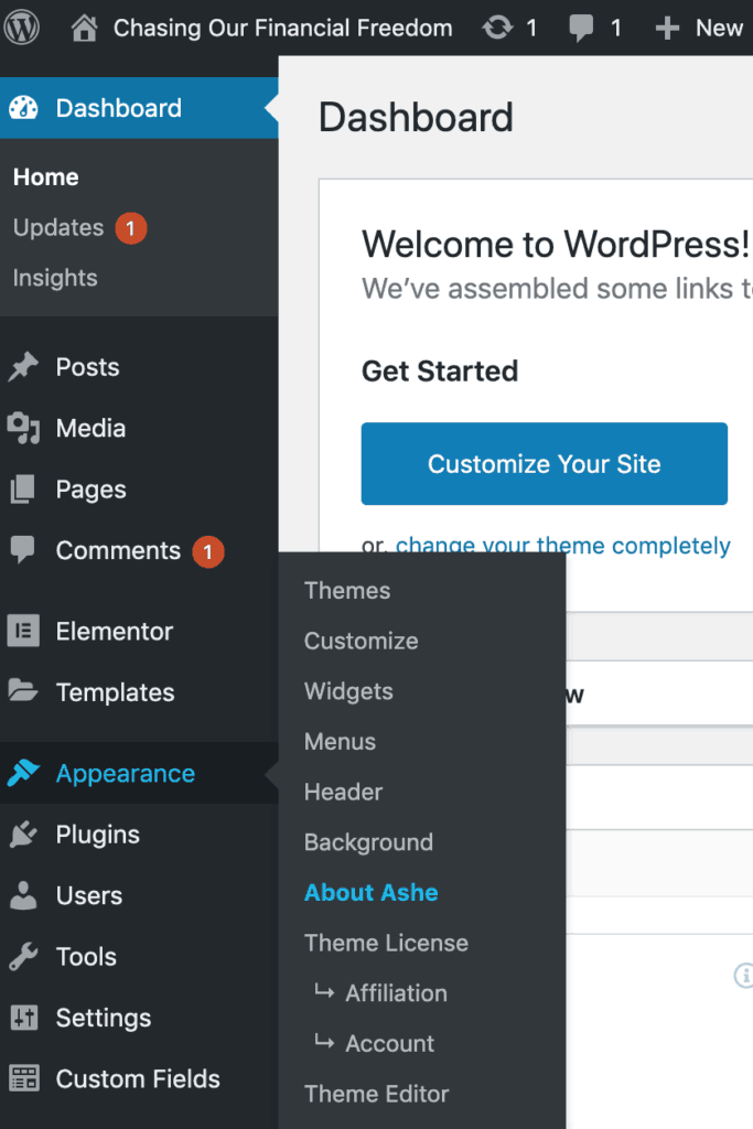 How to customize my theme on WordPress