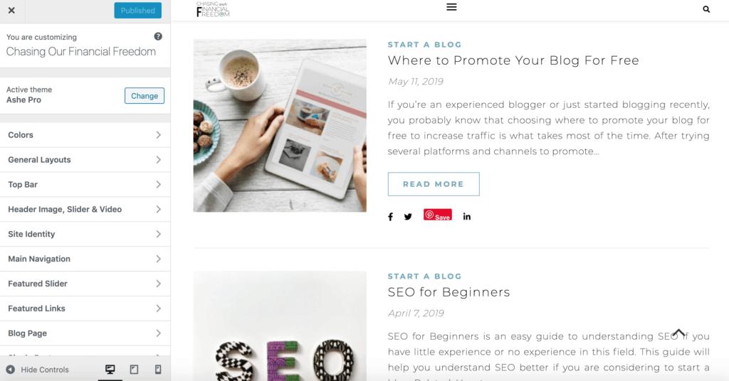 How to customize a theme on WordPress