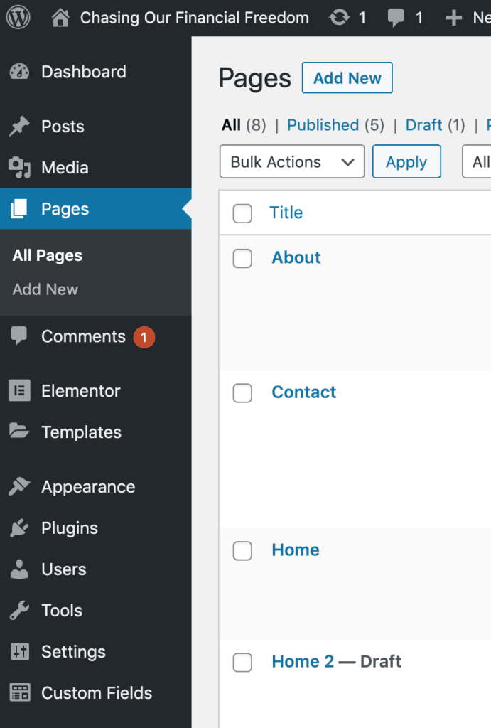 How to customize pages on WordPress
