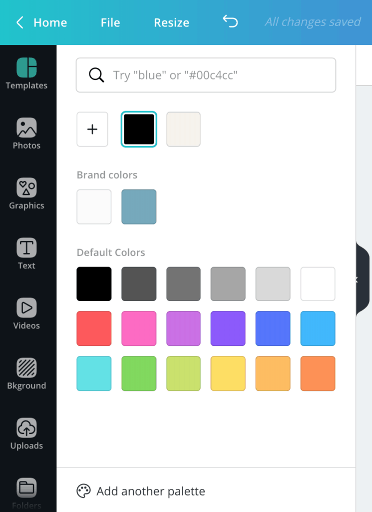 How to change the color of the fonts in Canva