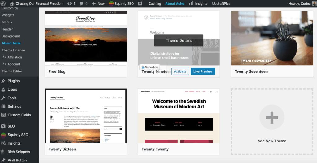 Free WordPress themes to start a blog