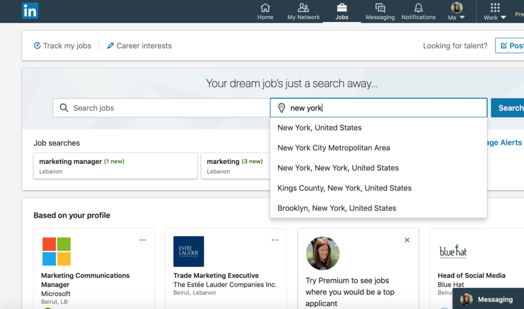 Manage alerts on LinkedIn when looking for a job