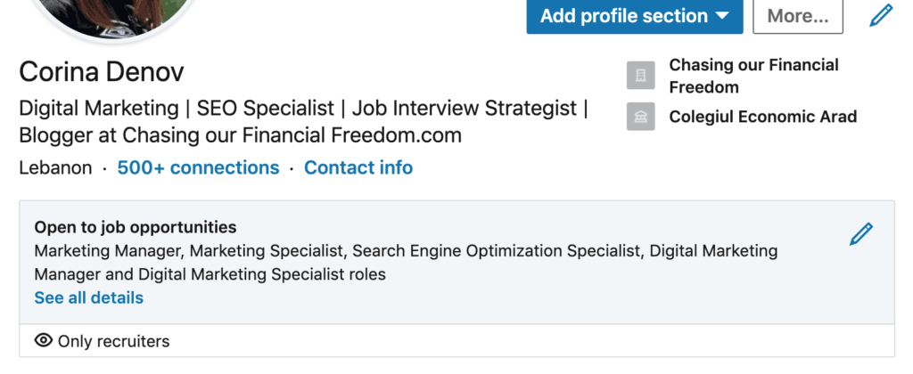 Open to new job opportunities on LinkedIn