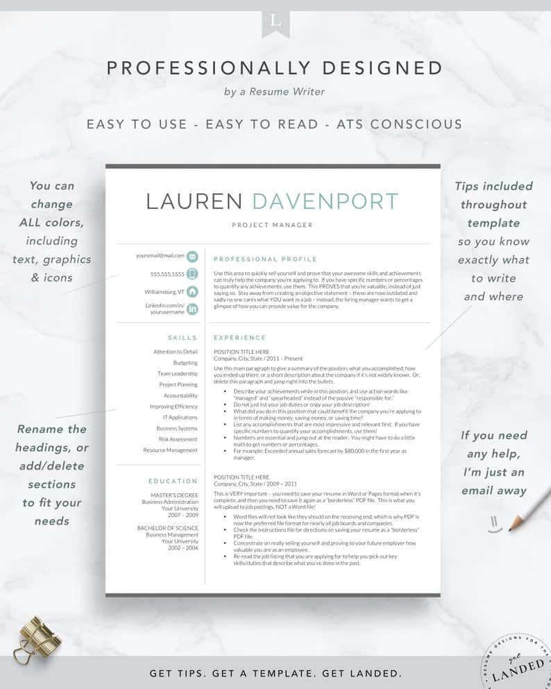 resume objective and resume template