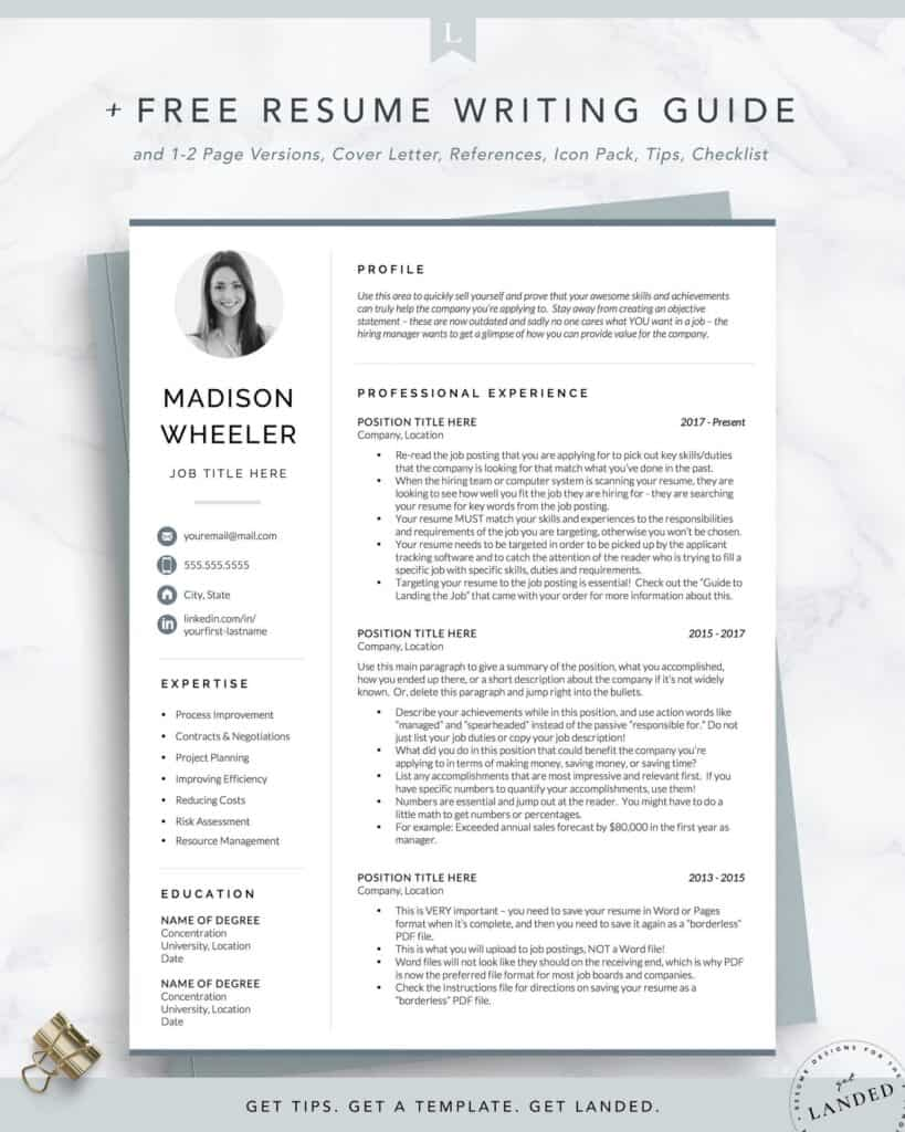 resume examples with picture